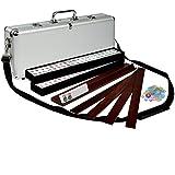 American Mahjong Set Aluminum Case Elemental with Pusher Racks