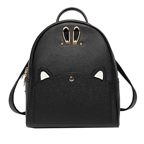 Yy.f Neue Frauen Schulterbeutel PU-Leder Mode-Handtaschen Rucksäcke Taschen Hasenohren Beutel Farbe 2 Purple