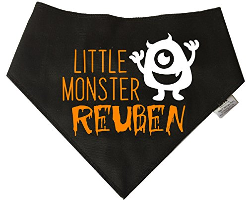 Kostüm Border Terrier - Spoilt Rotten Pets Personalisierbares Hunde-Halloween 'Little Monster Bandana' Größe 2: für kleine/mittelgroße Hunde mit einem Neck Messung zwischen 27,9cm-40,6cm (Anzug Working Cocker, West Highland, Border Terrier)
