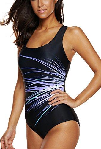 58c07fdee88 CharmLeaks Womens One Piece Swimsuit Sport Swimming Costume Training Swimwear  Sc 1 St Beach Bunny Swimwear