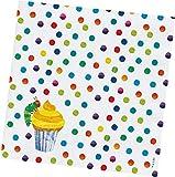 Raupe Nimmersatt 33x33cm, 12er Set Partyservietten Papier Mehrfarbig 17 x 17 x 1,7 cm, 12-Einheiten