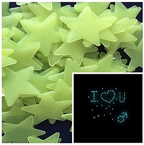 DIY Selbstklebende Leuchtsterne Sterne Sternenhimmel 100 Leuchtsterne Wandtattoo Wanddeko Sternenhimmel Wandsticker Kinderzimmer selbstklebend für Groß und Klein - machen Sie...