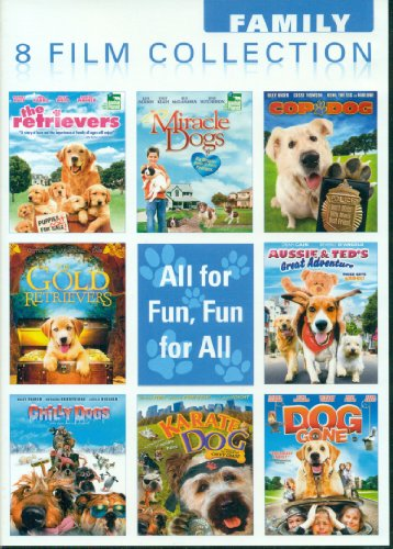 8 Film Collection: The Retrievers / Miricle Dogs / Cop Dog / The Gold Retrievers / Aussie & Ted's Great Adventure / Chilly Dogs / Karate Dog / Dog Gone
