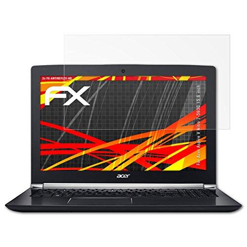 atFolix Schutzfolie kompatibel mit Acer Aspire V Nitro 7-593G 15,6 inch Bildschirmschutzfolie, HD-Entspiegelung FX Folie (2X)