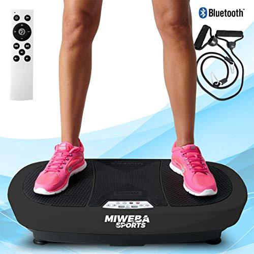 Miweba Sports Fitness Vibrationsplatte MV200 - 3 Vibrationsmodi - Horizontal - Vertikal - Oszillierend - 400 Watt (Schwarz)