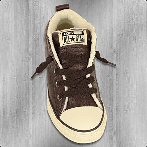 Converse  Chuck Taylor All Star Junior Street Leather Shearling Mid,  Unisex-Kinder Sneaker - Braun