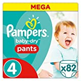 Pampers Baby-Dry Pants Couche-culotte 82 Pièces Taille4 8-14kg