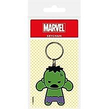 Marvel - Comics goma llavero de Kawaii Hulk 6 cm Pirámide Internacional