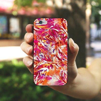 Apple iPhone X Silikon Hülle Case Schutzhülle Farben Muster Chaos Silikon Case schwarz / weiß