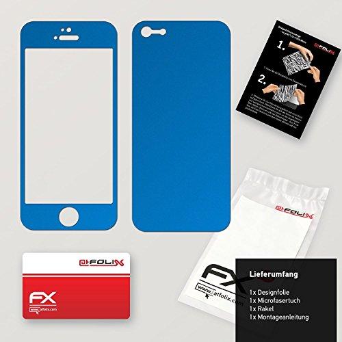 """Skin Apple iPhone 5 """"FX-Velvet-Black"""" Designfolie Sticker FX-Chrome-Soft-Blue"""