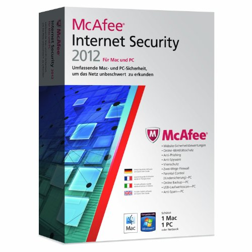 McAfee Internet Security 2012 Dual Protection (1 User) (PC+MAC) (inklusive kostenlose Upgrademöglichkeit auf Version 2013)