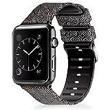 Lwsengme para Apple Watch Correa 38MM 42MM, Silicona Suave Reemplazo Correo de Deportiva Banda para iWatch Series 3 Series 2 Series 1 Edition/Nike+ Patrón Impreso