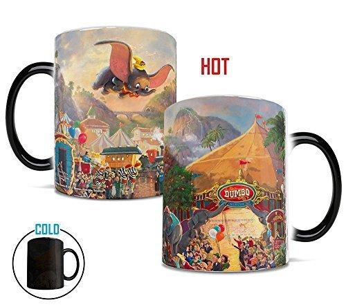 'Tassen, Thomas Kinkade Disney 's Dumbo der fliegende Elefant Circus Gemälde Hitze Reveal Keramik Kaffee Tasse-11Unzen