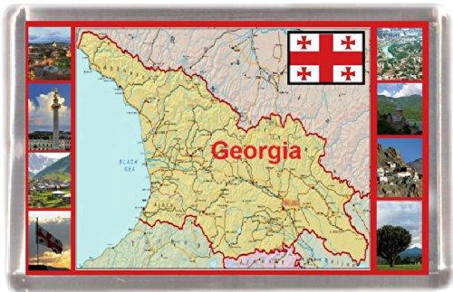 Kühlschrankmagnet Georgien Landkarte Geschenk Tourist Souvenir (Souvenirs Aus Georgien)