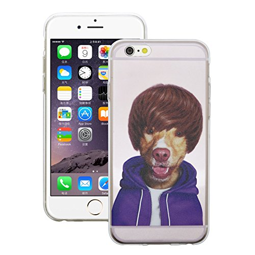 iProtect Schutzhülle Apple iPhone 6 6s Soft Case Hülle Rap Hund Edition lila Boyfriend Hund Edition rosa