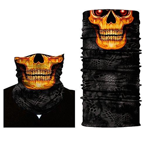 ShopINess Pañuelo bandana multiuso Calavera (5 diseños) (Fuego)