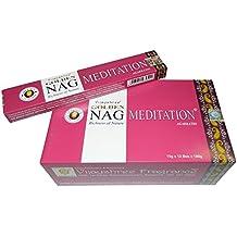 Varillas de incienso Golden Nag Meditation 180g aroma fragancia ambientador