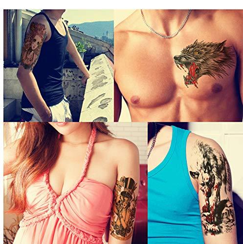 yyyDL Tattoo Aufkleber Tattoo Temporäre Frauen Männer Blume Arm Body Art AufkleberForest Crow Design Tattoo Aufkleber 14,8 * 21 cm 4 stücke
