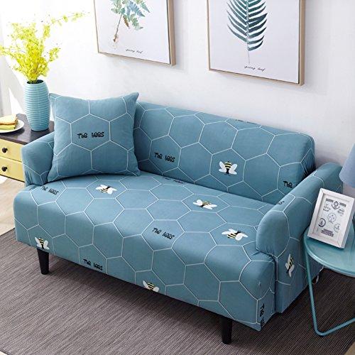 Lovehouse surefit copertura divano tratto 1-pezzo fodera per divano copridivano copertine stampa floreale antiscivolo antimacchia mobili coperture per 1 2 3 4 posti divano-k posti di amore