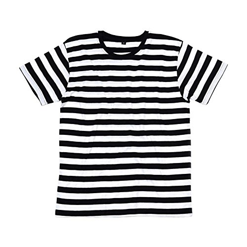 Mantis - Men's Retro Streifen-T-Shirt / Navy/White, XL (Streifen Marine-blauer)