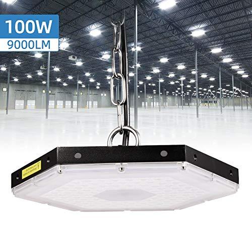 Nido de Abeja LED Iluminación, 100W 9000LM LED Hexágono Regular Lámpara Industrial,...