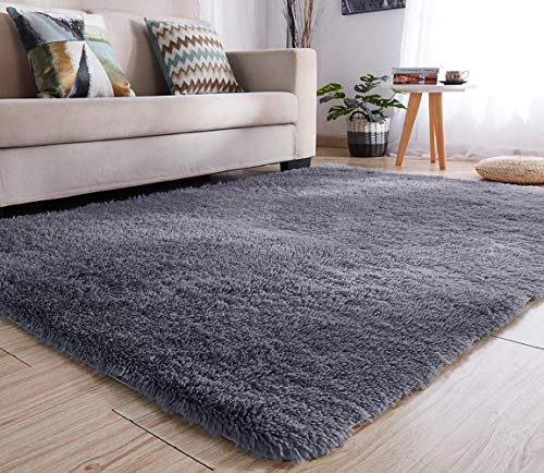 LOCHAS Teppiche für Wohnzimmer, Fluffy Shaggy Super weicher Teppich Geeignet als Schlafzimmerteppich Home Decor Kinderzimmer Teppiche Kindermatte, 120 x 160 cm