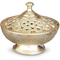 Räucherschale Räuchergefäß Ambra Ø 13 cm aus Messing poliert, Messingschale Schale mit Deckel indischer Stil zum... preisvergleich bei billige-tabletten.eu