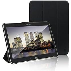 JETech 0590- Coque pour Samsung Galaxy Tab 4 10,1, Étui avec Support Fonction et Veille/Réveil Automatique, Noir