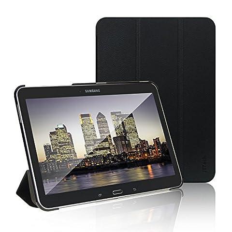 JETech® Samsung Galaxy Tab 4 10.1 Slim Fit Hülle Schutzhülle Tasche mit Standfunktion und Eingebautem Magnet für Einschlaf/Aufwach für Samsung Galaxy Tab 4 10 Zoll Smart Case Cover