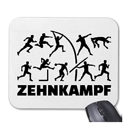 Helene Mousepad (Mauspad) Zehnkampf - Triathlon - Marathon - Radfahren - Schwimmen für ihren Laptop, Notebook oder Internet PC (mit Windows Linux usw.) in Weiß