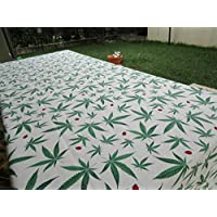 Pago Poco Little Novelty!!! Cotton tablecloth Meas. 140x180 cm. Cannabis Made in Italy !!! !