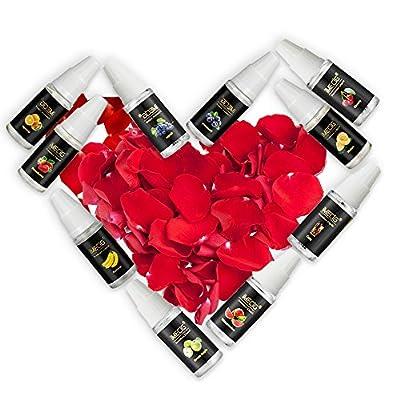 IMECIG® E-Liquids 10 x 10 ml, Premiumset für E Zigaretten/ Elektrische Zigarette/E Shisha,Apfel+Traube+Wassermelone+Kirsche+Cola+Orange+Blueberry+Banana +Strawberry+Melon,mit Nikotin 0,0mg, (Juicy Fairyland II) von Vapemate