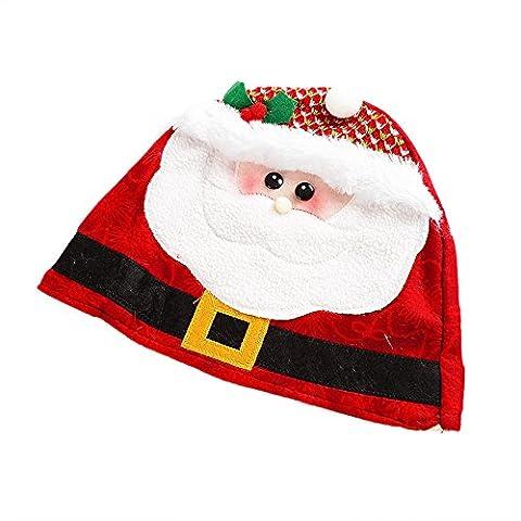 Piebo Weihnachtsfeiertags-Weihnachtsmütze (Rot)