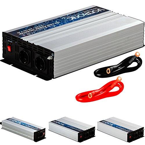 VOLTRONIC REINER SINUS KFZ Spannungswandler Inverter Wechselrichter 12V auf 230V 1500W Stromwandler Auto (Modell 2018) 3 Jahre Garantie