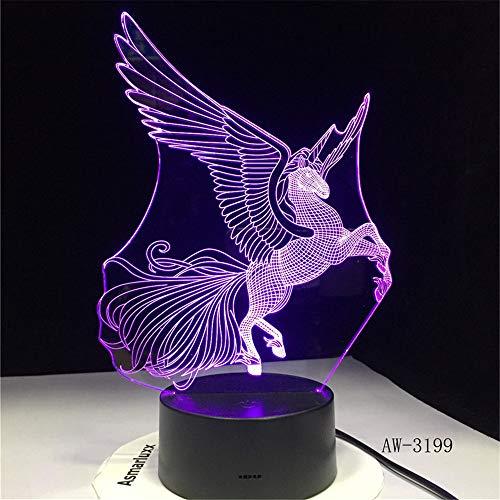 Rjjrr Io Party Cartoon Lampe Big Wings 3D Led Nachtlicht 7 Farbwechsel Baby Für Schlafzimmer Neben Lampe Baby Geschenke Aw-3199 Kinderzimmer Dekor -