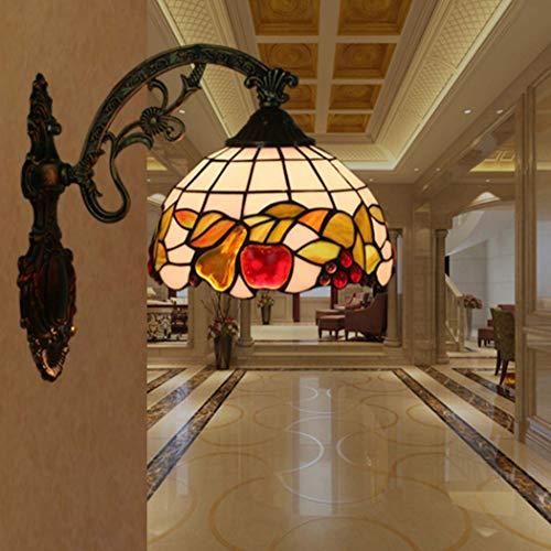 Yjmgrowing Tiffany Style Wandleuchte Lampe Pastorale Glasmalerei Korridor Wandleuchten Beleuchtung 8