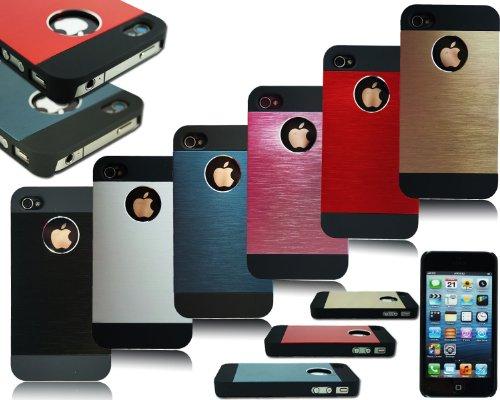 New Slim Hard Back Aluminium Schutzhülle für Apple I Phone 44G 4S 55S Red For I Phone 5S