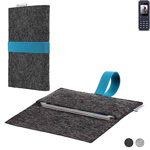 flat.design Handy Hülle Aveiro für bea-fon AL250 passgenaue Filz Tasche Case Sleeve Made in Germany