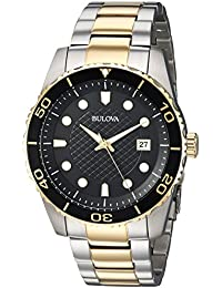 Bulova Men's Quartz Stainless Steel Casual Watch, Color:Two Tone (Model: 98A199)