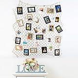 PHOTOZXM GRJH® Foto Wand, Gitter DIY Foto Wand Wandbehang Aufhängung Fischernetze Hanfseil Dekorative Gemälde Kreativer Europäer (Farbe : #2)