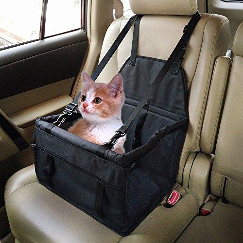 Auto-Sitz-Haustier-Fördermaschine-Haustier-Auto-Sitzträger, wasserdichter atmungsaktiver doppelter Schicht-Auto-Booster-Sitz mit Sicherheitsgurt für Hundekatzen-Welpe