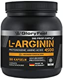 L-Arginin 380 Kapseln Hochdosiert - 4500mg Arginin-Hydrochlorid (HCL) = 3750mg reines L-Arginin - VERGLEICHSSIEGER 2018* - Laborgeprüft Ohne Magnesiumstearate hergestellt in Deutschland