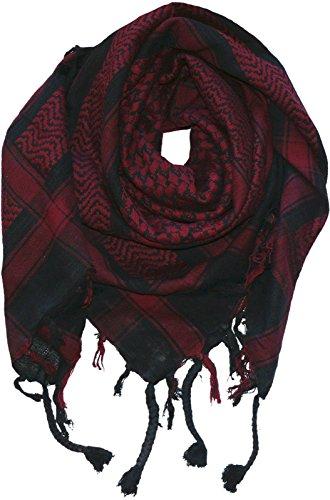 Harrys-Collection PLO Tuch in 20 Farben 100% Baumwolle dick, Farben:schwarz mit weinrot
