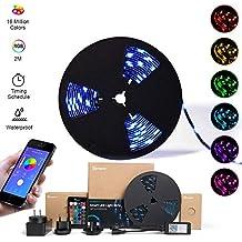 SONOFF L1 2M LED RGB Dimmbare intelligente Lichtleiste, per App fernbedienbare WLAN-Streifenleuchten, 2m, 5050, wasserdicht nach IP65, Kompatibel mit Alexa