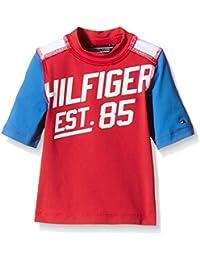 Tommy Hilfiger Boys Swim Tee-camiseta Bebé-Niñas    Rojo Rojo (Tomato) 86 cm