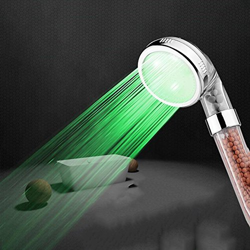 HQ LED-Dusche Bath Kopf Handbrause Temperaturkontrolle Bunte Laternen Anionen-Filter Groß / Klein-Code ( größe : Large code )