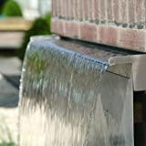 Direct Global Trading 30cm Dual Entry Stainless Steel Water Blade Garden & Patio Water Feature