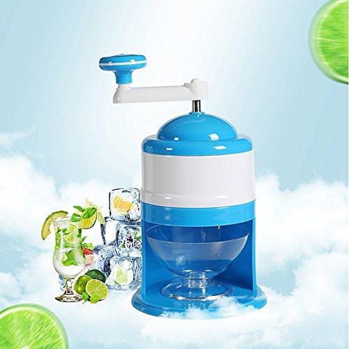 Baffect Ice Crusher Eiscrusher, Eis Zerkleinerer Eismühle Eiszerkleinerer Crushicemaker mit Handkurbel Blau