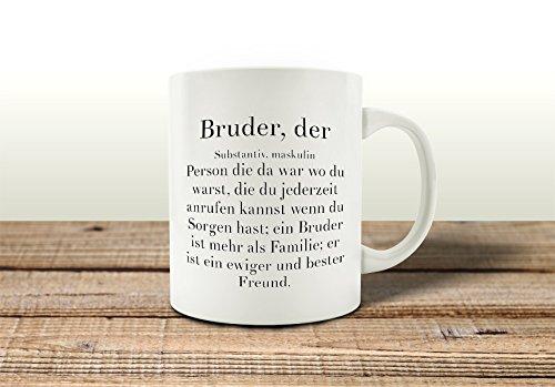 KAFFEEBECHER Tasse BRUDER, DER Spruch Geburtstag Geschenk Familie Geschwister