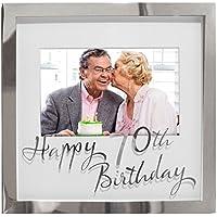70th Birthday Mirrored Photo Frame 4 x 6